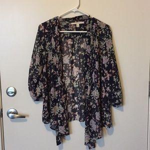 Lauren Conrad Sheer Floral Open Kimono
